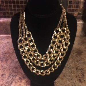 etc! Jewelry - 🌹3/$15 ETC! lg triple gold braided chain necklace